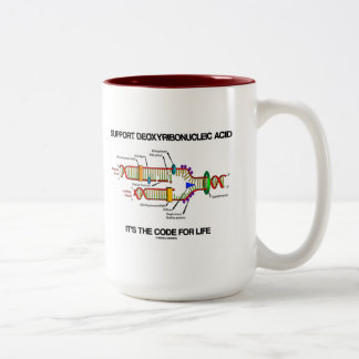 Support Deoxyribonucleic Acid It's The Code Life Two-Tone Coffee Mug