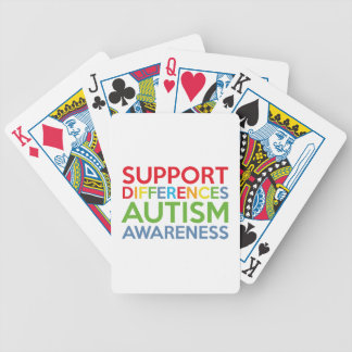 Support Differences Autism Awareness Bicycle Playing Cards
