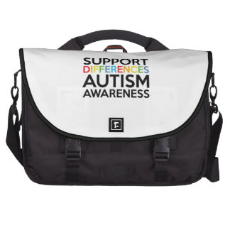 Support Differences Autism Awareness Computer Bag