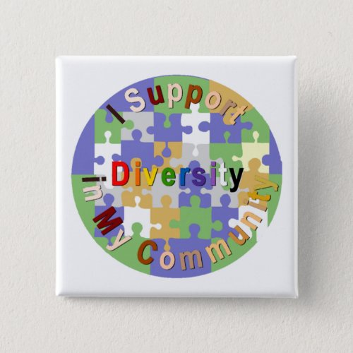 Support Diversity in My Community Button