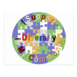 Support Diversity in My Community Postcard