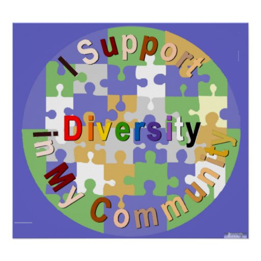 Support Diversity in My Community Poster