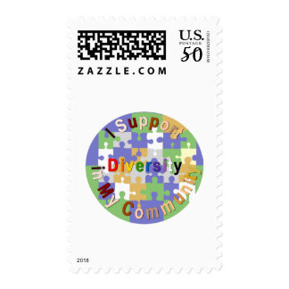 Support Diversity in My Community Stamp
