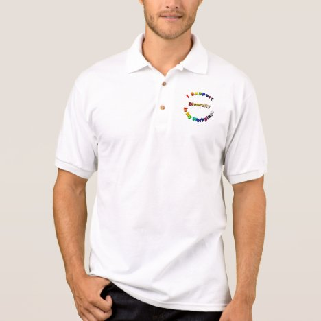 Support Diversity in My Workplace Polo Shirt