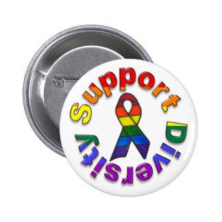 Support Diversity Pinback Button