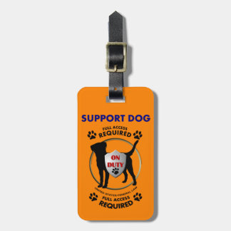 Support Dog ID Tag For Bags
