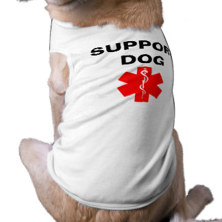 Support Dog Medical Alert Symbol Dog Tank Top Tee