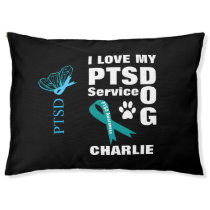 Support Dog PTSD Awareness Personalized Pet Bed
