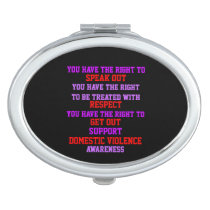 Support Domestic Violence Awareness Vanity Mirror