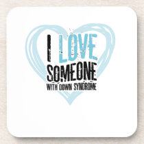 Support Down Syndrome Beverage Coaster
