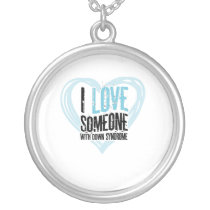 Support Down Syndrome Silver Plated Necklace