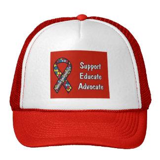 """Support, Educate, Advocate"" Trucker Hat"