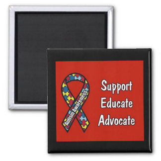 Support Educate Advocate Refrigerator Magnets