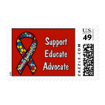 """Support, Educate, Advocate"" Postage Stamp"