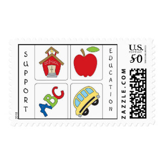 Support Education Postage Stamp