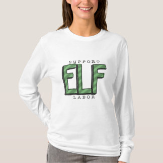 Support Elf Labor Ladies Sweatshirt