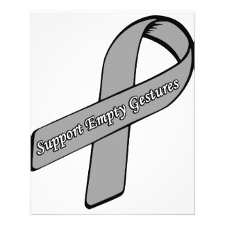 Support Empty Gestures Ribbon Flyer