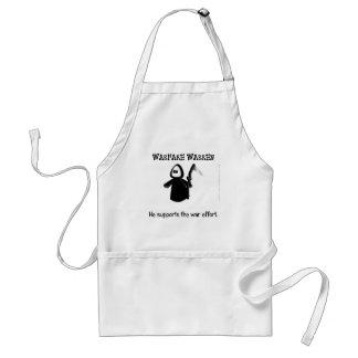 Support (ending) the war effort adult apron