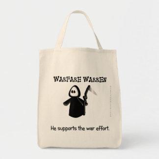 Support (ending) the war effort canvas bag