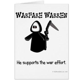 Support (ending) the war effort card