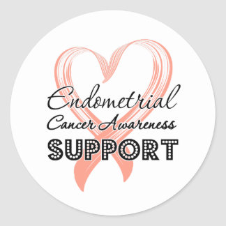 Support Endometrial Cancer Awareness Stickers