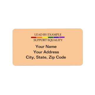 Support Equality Address Label Sheet