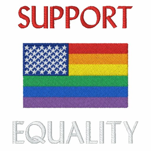 Support Equality Embroidered Polo Shirt