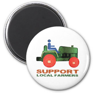Support Farmers 2 Inch Round Magnet