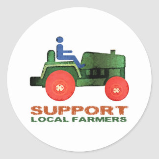 Support Farmers Classic Round Sticker