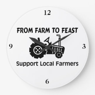 Support Farmers From Farm To Feast Large Clock