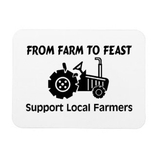 Support Farmers From Farm To Feast Magnet
