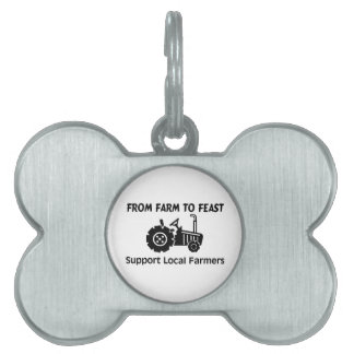 Support Farmers From Farm To Feast Pet Name Tag