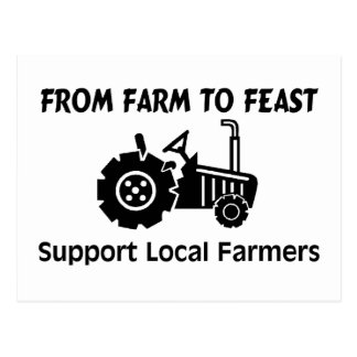 Support Farmers From Farm To Feast Postcard