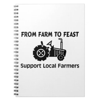 Support Farmers From Farm To Feast Spiral Notebook