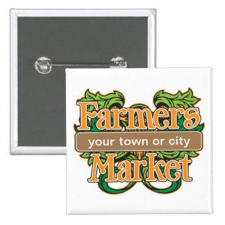 Support Farmers Market Pinback Button