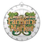 Support Farmers Market Dartboard