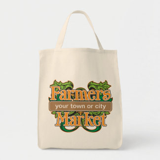 Support Farmers Market Grocery Tote Bag