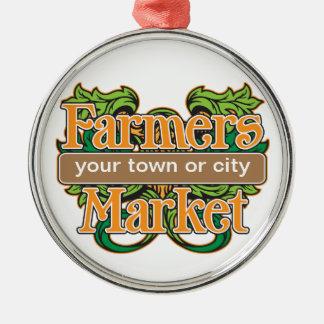 Support Farmers Market Metal Ornament