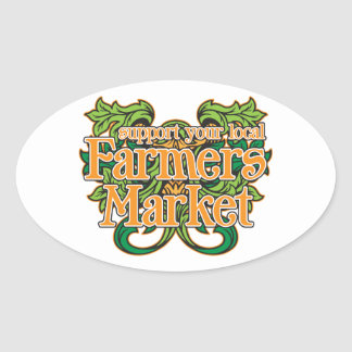 Support Farmers Market Oval Sticker