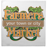 Support Farmers Market Printed Napkins