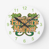Support Farmers Market Round Wall Clock