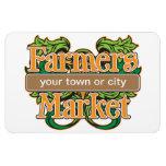 Support Farmers Market Vinyl Magnets