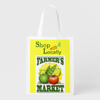 Support Farmer's Markets Reusable Grocery Bag