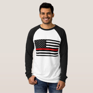 Support Firefighter's Thin Red Line T-Shirt