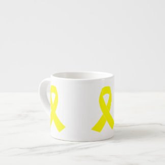 Support for Military Forces - Yellow Ribbon Espresso Cup