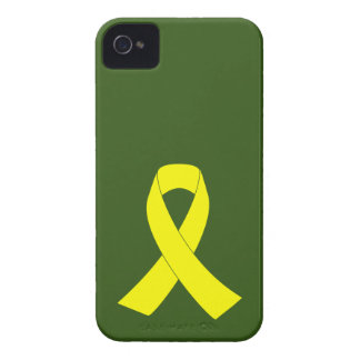 Support for Military Forces - Yellow Ribbon iPhone 4 Cover