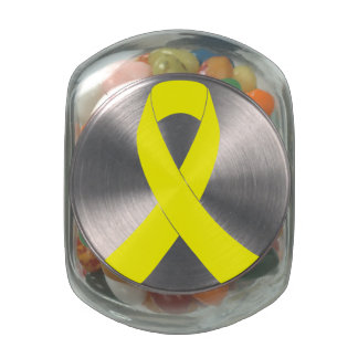 Support for Military Forces - Yellow Ribbon Jelly Belly Candy Jar
