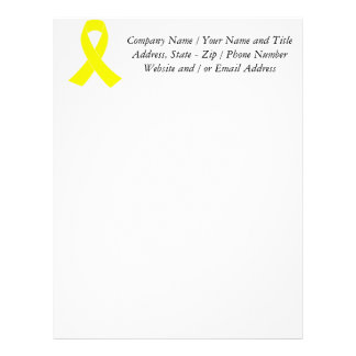 Support for Military Forces - Yellow Ribbon Letterhead
