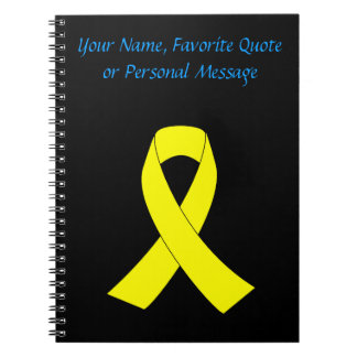 Support for Military Forces - Yellow Ribbon Notebook