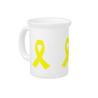 Support for Military Forces - Yellow Ribbon Pitcher